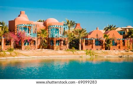 ElGouna Resort views - stock photo