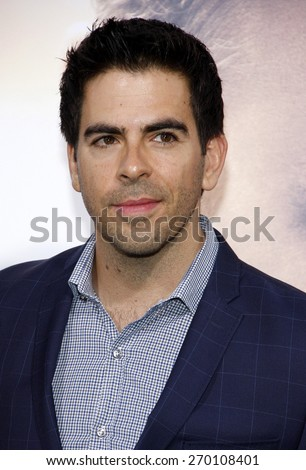 Eli Roth at the Los Angeles premiere of 'The Water Diviner' held at the TCL Chinese Theatre IMAX in Hollywood, USA on April 16, 2015.  - stock photo