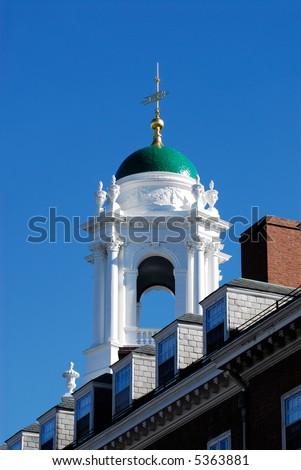 Eliot House green dome, Harvard University - stock photo