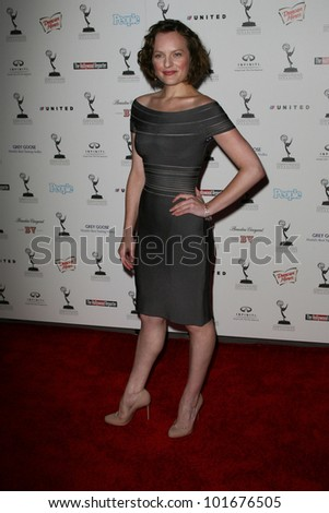 Elisabeth Moss at the 62nd Primetime Emmy Awards Performers Nominee Reception, Spectra by Wolfgang Puck, Pacific Design Center, West Hollywood, CA. 08-27-10 - stock photo