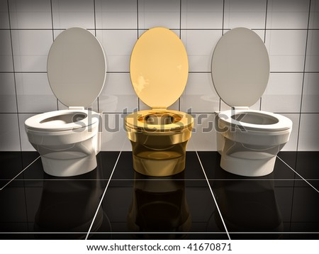 toilet made of gold. Elite gold office Toilet  Made in 3d Gold Stock Images Royalty Free Vectors Shutterstock