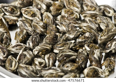 Elite green tea close up - stock photo