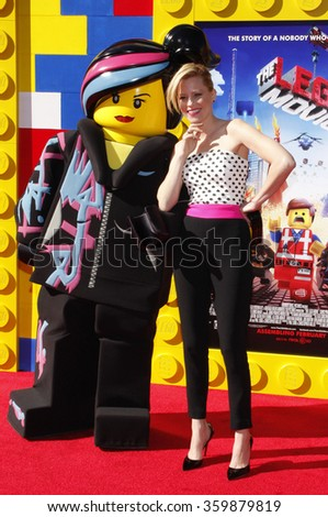 "Elizabeth Banks at the Los Angeles premiere of ""The LEGO Movie"" held at the Regency Village Theatre in Westwood, USA on February 1, 2014"
