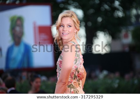 Elizabeth Banks attends a premiere for 'A Bigger Splash' during the 72nd Venice Film Festival at Sala Grande on September 6, 2015 in Venice, Italy. - stock photo