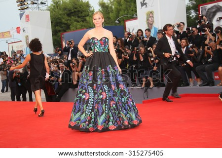 Elizabeth Banks attends the premiere of the movie 'BLACK MASS' during the 72nd Venice Film Festival on September 4, 2015 in Venice, Italy. - stock photo