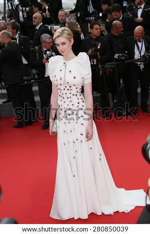 Elizabeth Debicki attends the 'Macbeth' Premiere during the 68th annual Cannes Film Festival on May 23, 2015 in Cannes, France. - stock photo