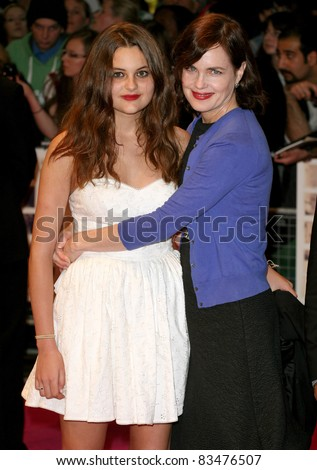 Elizabeth mcgovern and daughter arriving for the european premiere of