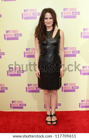 Elizabeth Reaser at the 2012 Video Music Awards Arrivals, Staples Center, Los Angeles, CA 09-06-12 - stock photo
