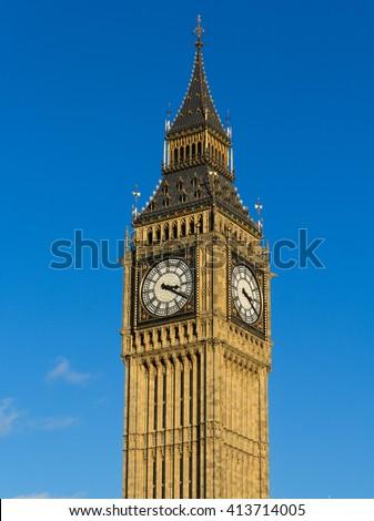 Elizabeth Tower and Big Ben - stock photo