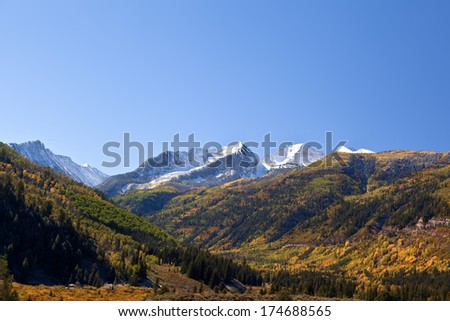 Elk Mountains Colorado in Fall - stock photo