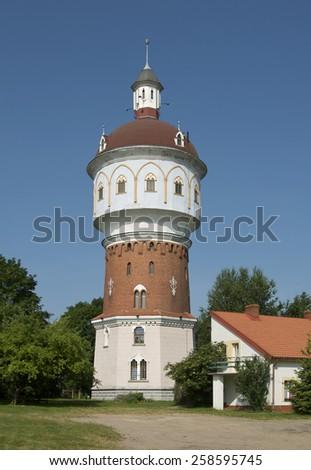 Elk symbol water-tower (Poland) - stock photo