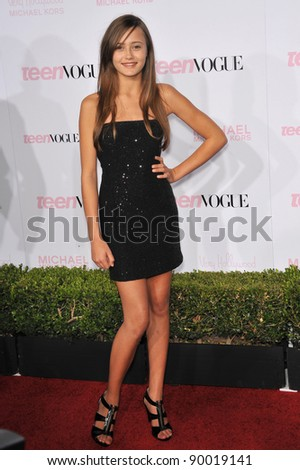 Ella Purnell at the 8th Annual Teen Vogue Young Hollywood Party in partnership with Michael Kors at Paramount Studios, Hollywood. October 1, 2010  Los Angeles, CA Picture: Paul Smith / Featureflash