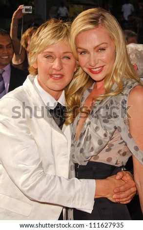 Ellen DeGeneres and Portia de Rossi at the 34th Annual Daytime Emmy Awards. Kodak Theater, Hollywood, CA. 06-15-07 - stock photo