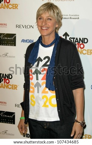 Ellen DeGeneres  at Stand Up To Cancer. Kodak Theater, Hollywood, CA. 09-05-08 - stock photo