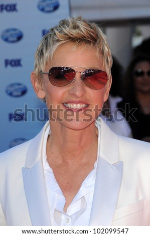 Ellen DeGeneres at the American Idol Grand Finale 2010, Nokia Theater, Los Angeles, CA. 05-26-10
