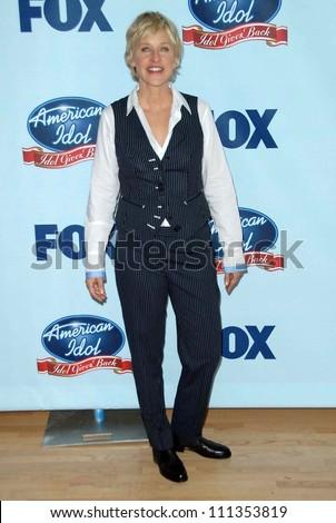 "Ellen DeGeneres at the American Idol: ""Idol Gives Back"" Historic TV Event. Walt Disney Concert Hall, Los Angeles, CA. 04-25-07 - stock photo"