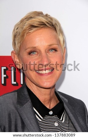 "Ellen Degeneres at the ""Arrested Development"" Los Angeles Premiere, Chinese Theater, Hollywood, CA 04-29-13 - stock photo"