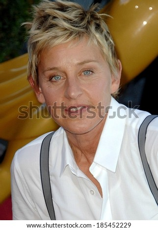 Ellen DeGeneres at The 36th Annual Daytime Emmy Awards - ARRIVALS, Orpheum Theatre, Los Angeles, CA August 30, 2009 - stock photo