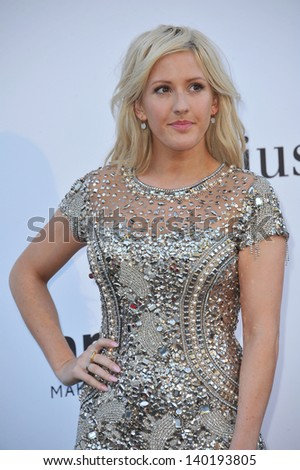 Ellie Goulding at amfAR's 20th Cinema Against AIDS Gala at the Hotel du Cap d'Antibes, France May 23, 2013  Antibes, France - stock photo