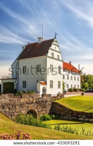 Ellinge slott is a castle in Eslov Municipality, Scania, in southern Sweden. - stock photo