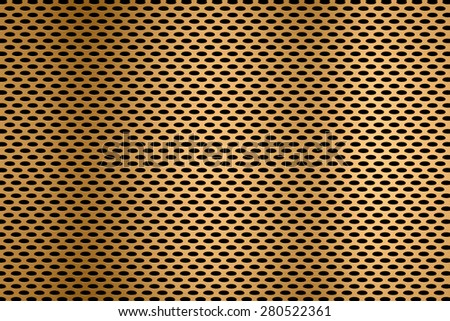 ellipse golden metal screen background