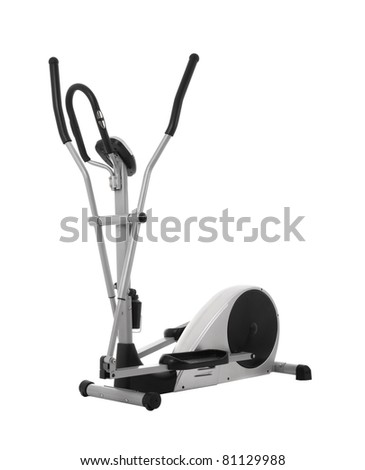 Elliptical cross trainer isolated on white