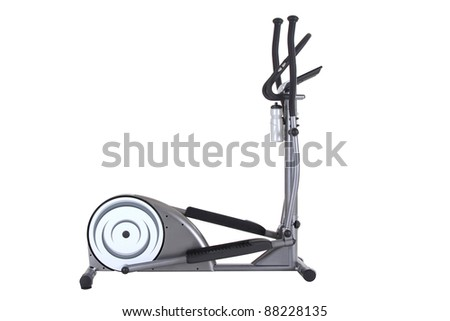elliptical cross trainer isolated on  white background. - stock photo