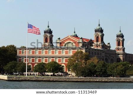 Ellis Island, New York City. - stock photo