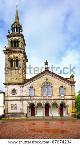 Elmwood Presbyterian Church. Queen's Quarter, Belfast, Ulster, Northern Ireland - stock photo
