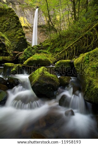 Elowah Falls - stock photo