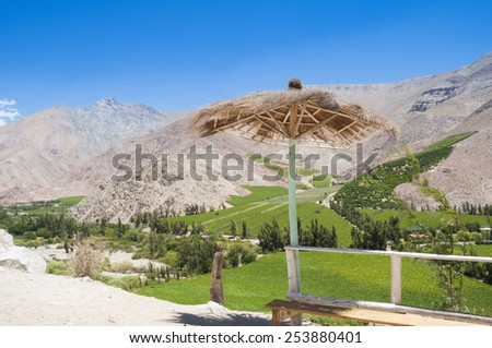 Elqui valley, Chile - stock photo