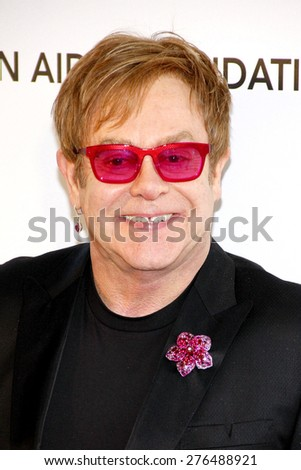 Elton John at the 21st Annual Elton John AIDS Foundation Academy Awards Viewing Party held at the Pacific Design Center in West Hollywood on February 24, 2013. - stock photo