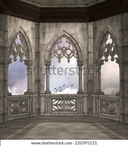 Elves tower background - stock photo