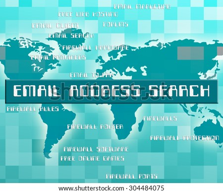 Email Address Search Representing Send Message And E-Mail - stock photo