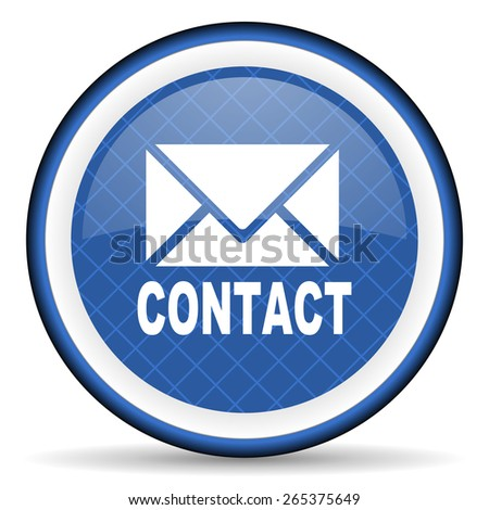 email blue icon contact sign  - stock photo