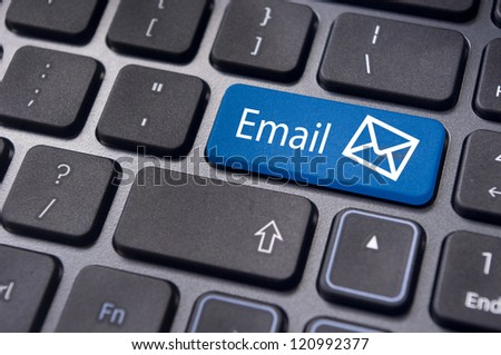 email concepts, with message on computer keyboard.