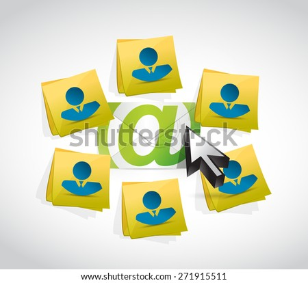 email correspondence people post mails illustration design over white background - stock photo