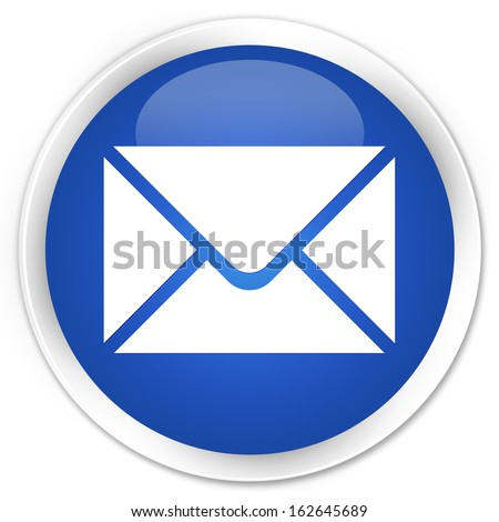 Email icon blue button - stock photo