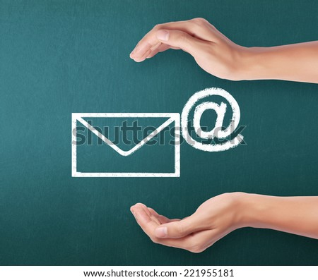 Email icon, Concept representing email - stock photo