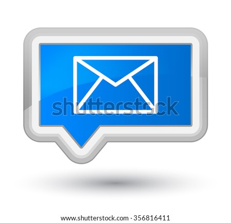 Email icon cyan blue banner button