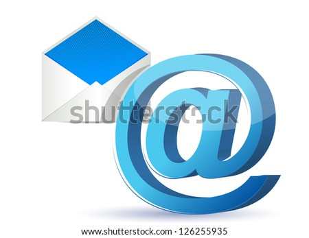 Email icon graphic illustration design over a white background
