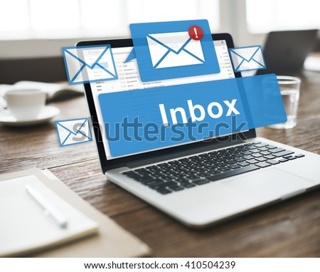 Email Inbox Electronic Communication Graphics Concept - stock photo