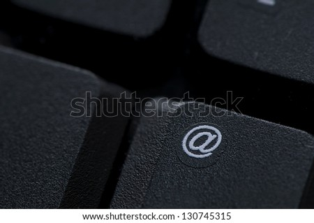 Email key on computer keyboard - stock photo