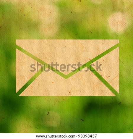 email logo on paper texture - stock photo
