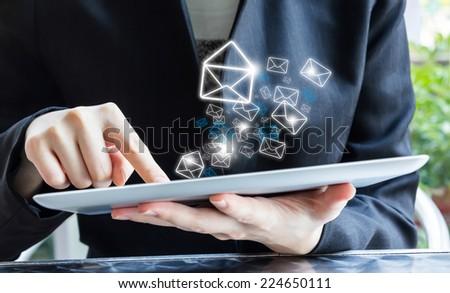 Email marketing - stock photo