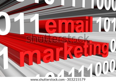 email marketing is presented in the form of binary code - stock photo