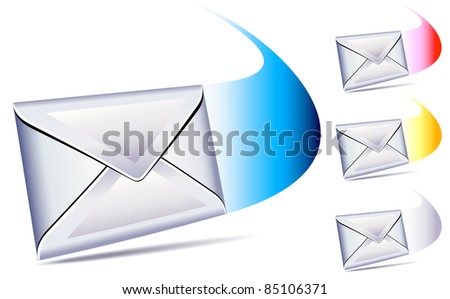 email sent and arriving SMS message- raster version