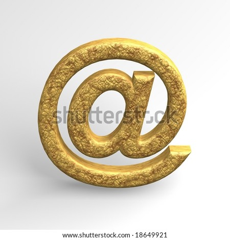 Email sign - stock photo