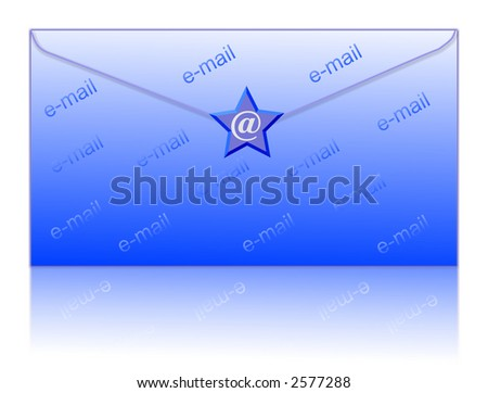 email symbol and envelop - computer generated clipart