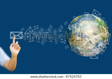 email to the world - stock photo